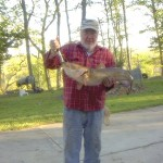Jerry Parish's 18# catfish caught 4/24/14