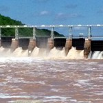 Tuckertown Dam with flood gates open